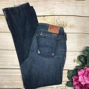 Lucky Brand Distressed Zoe Straight Jeans